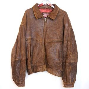 Andrew Marc heavy leather jacket fall winter